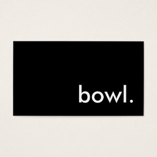 bowl. business card
