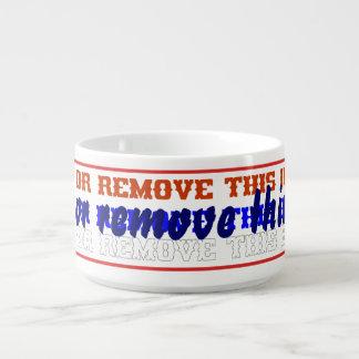 "Bowl Chili or not! Dim: 4.13"" diameter, 2.75"" h. Chili Bowl"