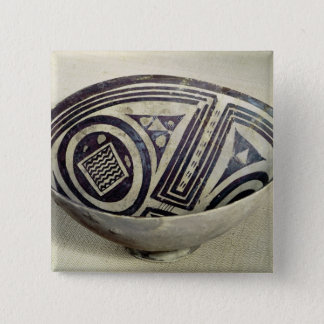 Bowl decorated with a geometric pattern 15 cm square badge