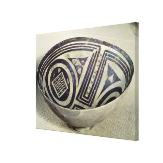 Bowl decorated with a geometric pattern canvas print