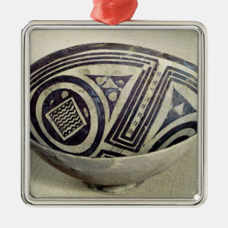 Bowl decorated with a geometric pattern christmas ornament
