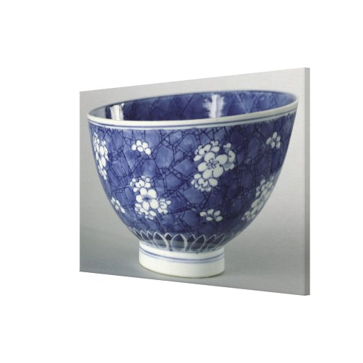 Bowl decorated with cherry blossom canvas prints