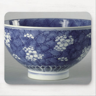 Bowl decorated with cherry blossom mouse mat