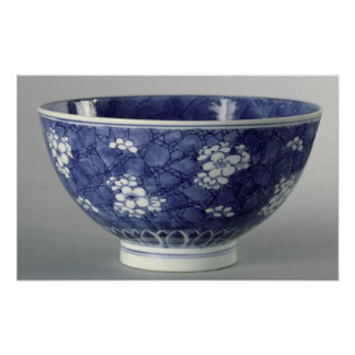 Bowl decorated with cherry blossom poster