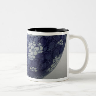 Bowl decorated with cherry blossom Two-Tone coffee mug