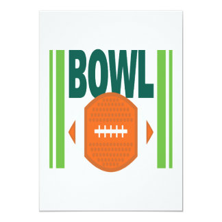 Bowl Game 13 Cm X 18 Cm Invitation Card