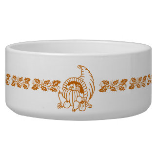Bowl - Horn of Plenty Pet Food Bowl