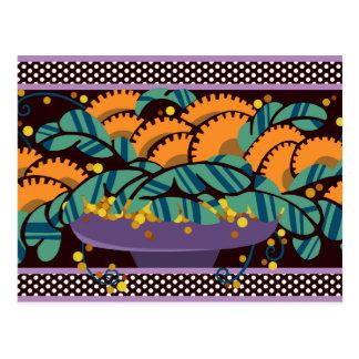 Bowl O' Berries in Lavender and Pumpkin Postcard