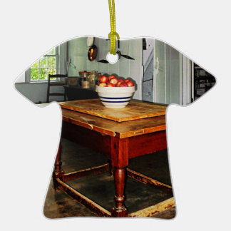 Bowl Of Apples On Table Ceramic T-Shirt Decoration