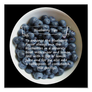 """Bowl of Blueberries 12""""x12"""" Poster"""