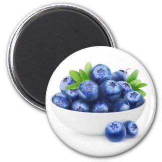 Bowl of blueberries magnet