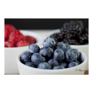 Bowl of Blueberries Print