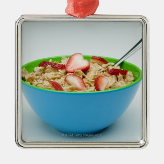 Bowl of cereal Silver-Colored square decoration