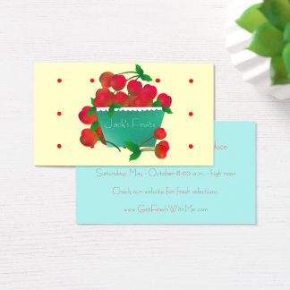 Bowl of Cherries Business Card