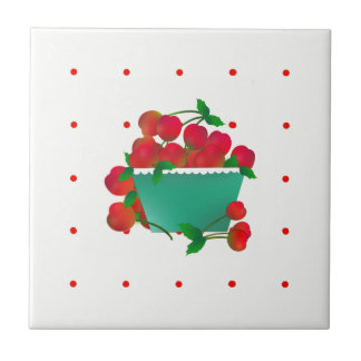 Bowl of Cherries Ceramic Tile