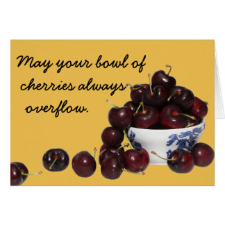Bowl of Cherries Note Card