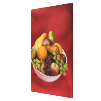Bowl of fresh fruits canvas print