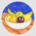 Bowl of Fruit Classic Round Sticker