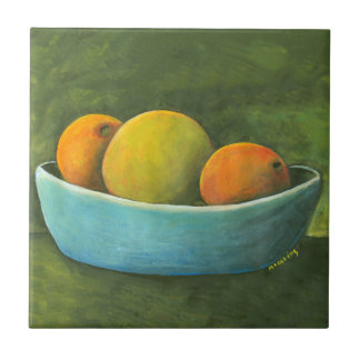 Bowl Of Fruit Grapefruit Oranges Tile