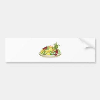Bowl of fruit illustration bumper sticker