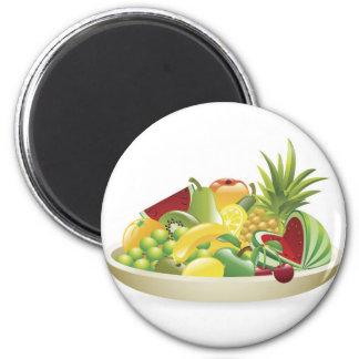 Bowl of fruit illustration fridge magnet