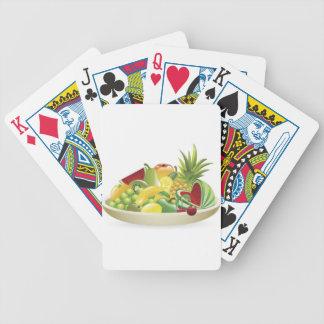 Bowl of fruit illustration bicycle poker cards