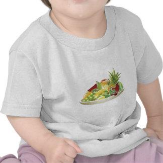 Bowl of fruit illustration tee shirt
