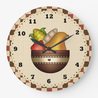Bowl Of Fruit Kitchn clock