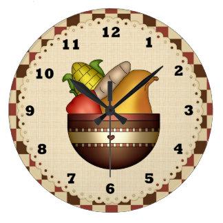 Bowl Of Fruit Kitchn clock
