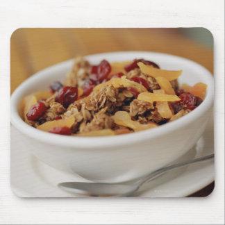 Bowl of granola mouse mat
