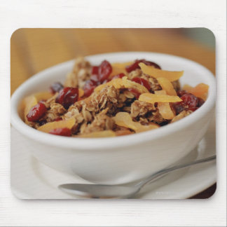 Bowl of granola mouse pad