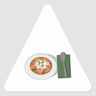 Bowl of Gumbo Triangle Sticker