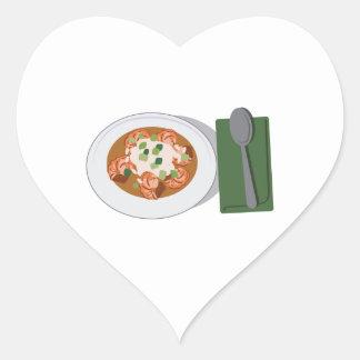 Bowl of Gumbo Heart Sticker