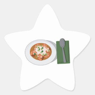 Bowl of Gumbo Star Sticker