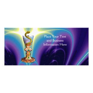 BOWL OF HYGEIA , PHARMACY MONOGRAM RACK CARD TEMPLATE