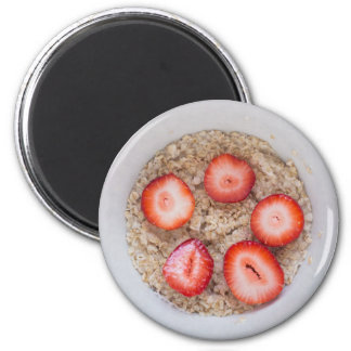 Bowl of Oatmeal and Strawberries Magnet