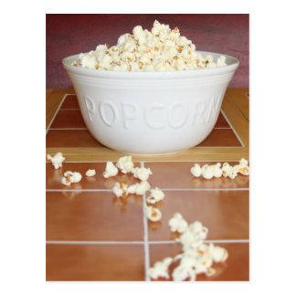 Bowl of Popcorn Postcard
