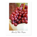 Bowl of Red Grapes Postcard
