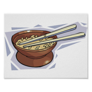 Bowl Of Rice Poster