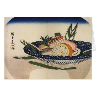Bowl of Sushi, circa 1800's Japan. Card