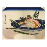 Bowl of Sushi, circa 1800's Japan. Postcard