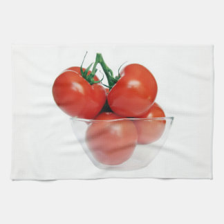 bowl of tomatoes tea towel