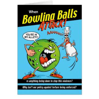 Bowl-Off Bowling Birthday Greeting Card