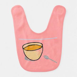 Bowl & Spoon Baby Bib (Pink) Bib