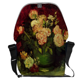 Bowl with Peonies and Roses, Vincent van Gogh Commuter Bags