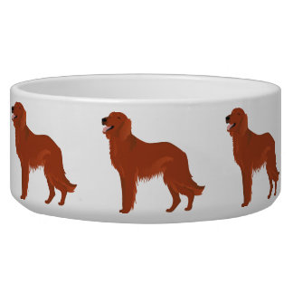 Bowl with red irish setter