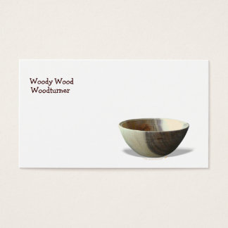 Bowl Woodturning Business Card Template