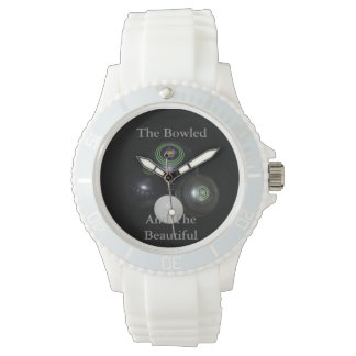 Bowled_And_Beautiful_Ladies_White_Lawn_Bowl_Watch Wrist Watches