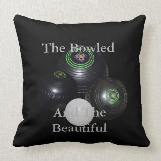 Bowled_Beautiful_Lawn_Bowls_Lounge_Throw_Cushion Throw Pillow