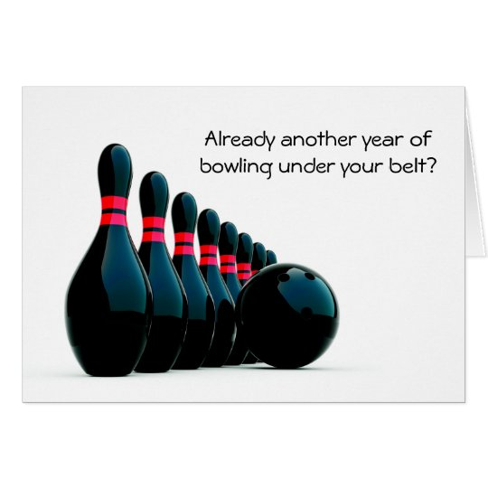 Bowler Bowling Birthday Greeting Card